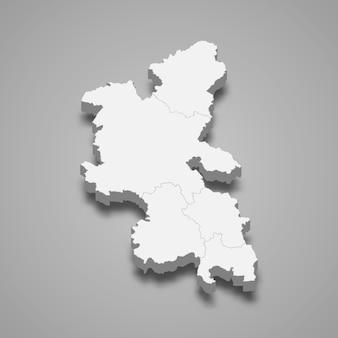 イギリスの図のバッキンガムシャー儀式郡の3 dマップ