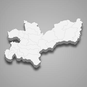 コロンビアの図のカルダス部門の3 dマップ
