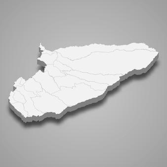 3d карта департамента касанаре колумбии иллюстрации