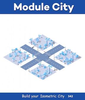 3d карта города на белом