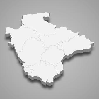 イギリスのデボン儀式郡の3 dマップ