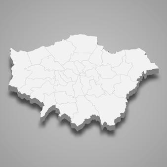イギリスの大ロンドン儀式郡の3 dマップ