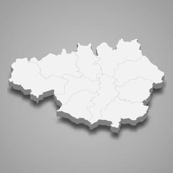 イギリスのグレーターマンチェスター儀式郡の3 dマップ