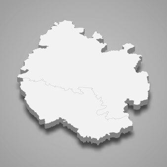 イギリスのヘレフォードシャー儀式郡の3 dマップ