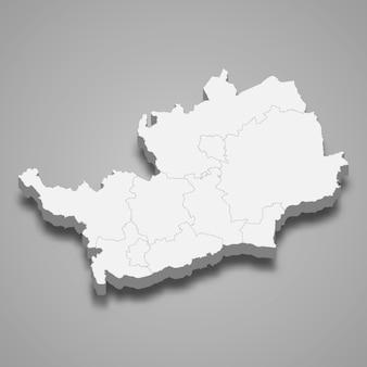 イギリスのハートフォードシャー儀式郡の3 dマップ