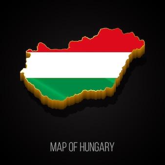 ハンガリーの3dマップ