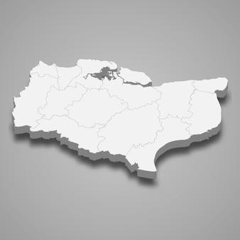 イギリスのケント儀式郡の3 dマップ
