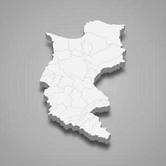 3d карта департамента магдалена колумбии иллюстрации