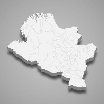 3d карта департамента нарино колумбии иллюстрации