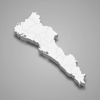 3d карта штата синалоа в мексике иллюстрации