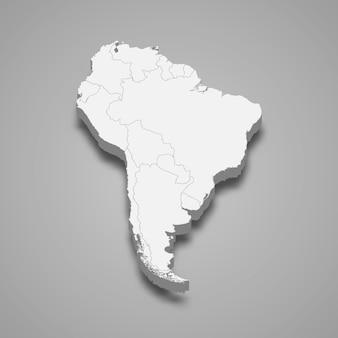 3d карта южной америки