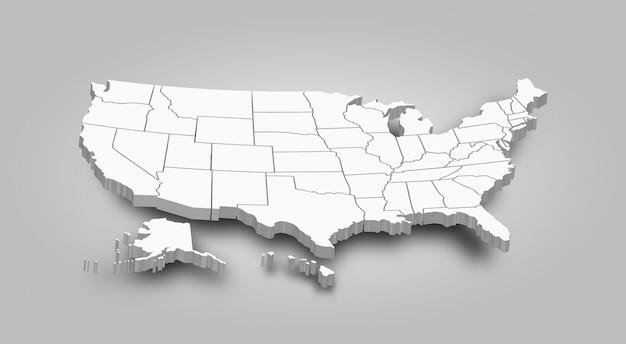 3d-карта соединенных штатов америки