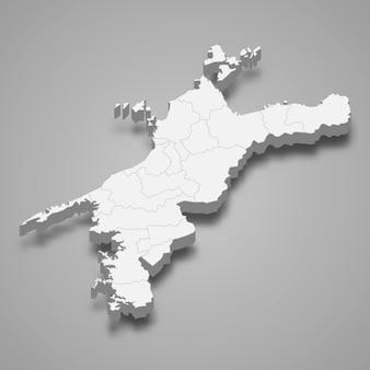 3d карта префектуры японии