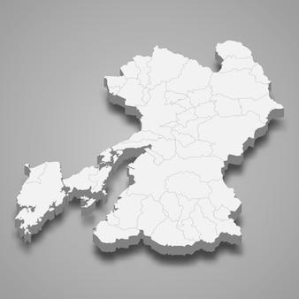 日本の3 dマップ県