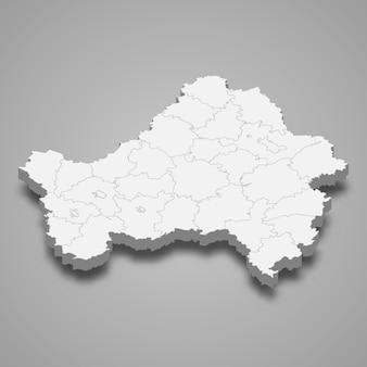 ロシアの3 dマップ領域