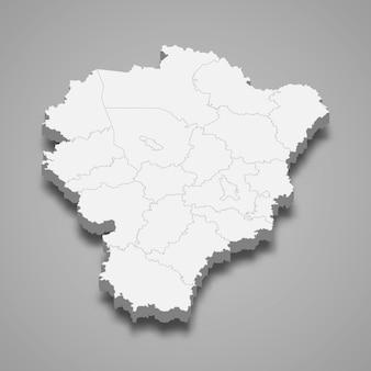3d map region of russia