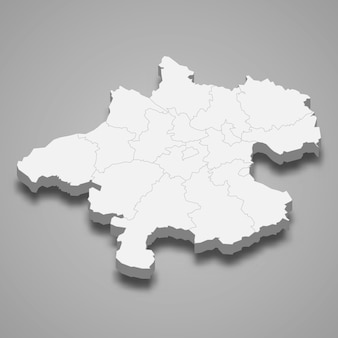 3d map state of austria