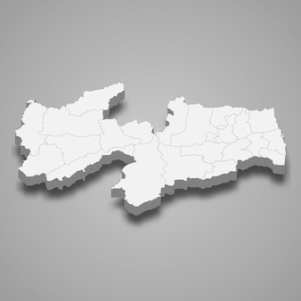 3d map state of brazil