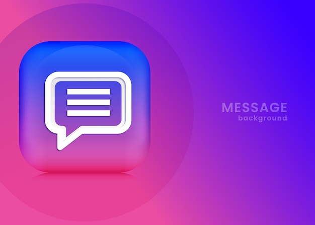 3d message background or banner