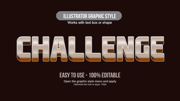 3d metallic gaming sports typography