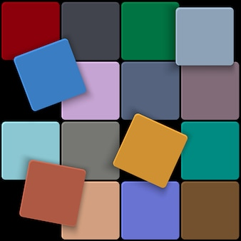 3d  minimal colorful square background