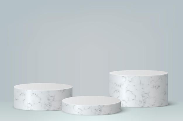 연단, 제품 프리젠 테이션 배경이있는 3d 최소한의 장면