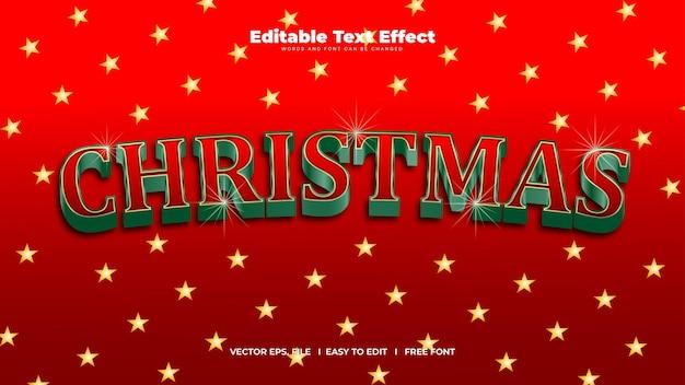 3d minimalist christmas editable text effect