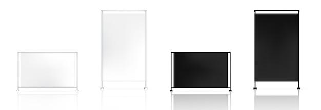 3d mock up реалистичная рулонная баннерная pop для продажи