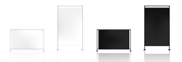 3d mock up realistic roll up banner pop for sale