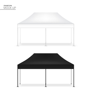 3d mock up realistic tent display pop booth for exhibition