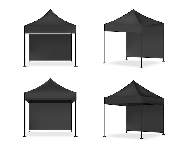 3d mock up realistic tent display pop booth.
