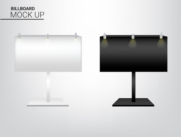 3d mockup realistic billboard display