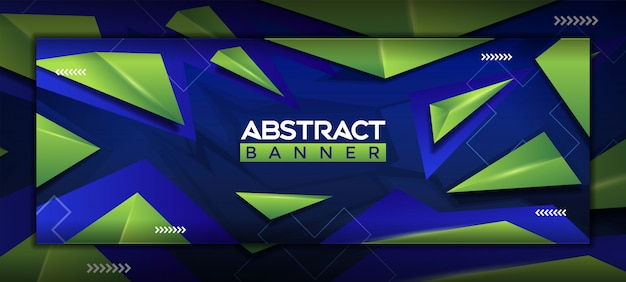 3d modern abstract social media banner template