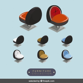 3d modern chairs collection