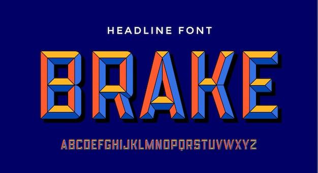 3d modern font
