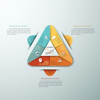 3d modern infographic option template