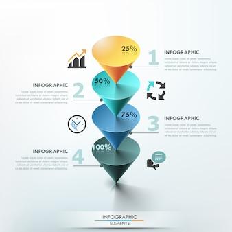 3d современный шаблон инфографики