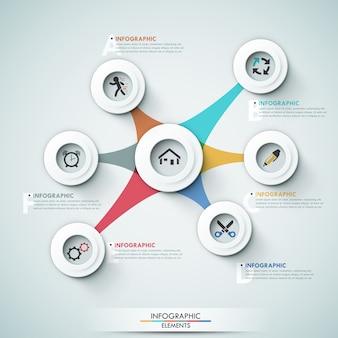 3d современный инфографический шаблон вариантов