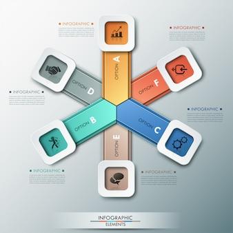 3d modern infographics options banner