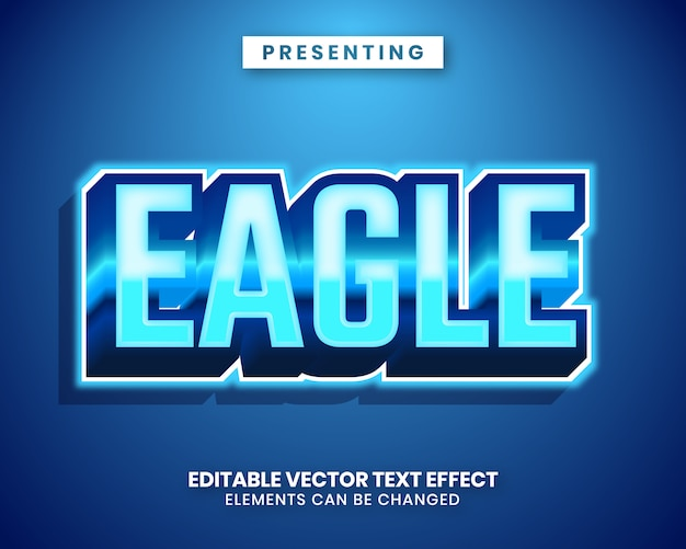 3d modern trendy style editable text effect