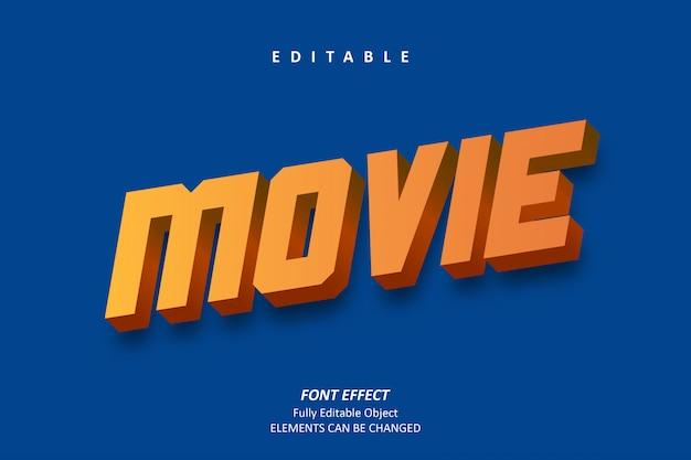 3d movie text effect