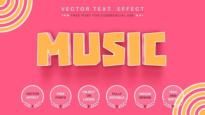 3d音楽編集テキスト効果編集可能なフォントスタイル