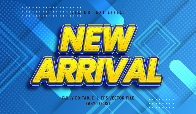 3d new arrival text effect, editable text style