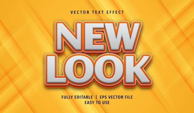 3d new look text effect, editable text style