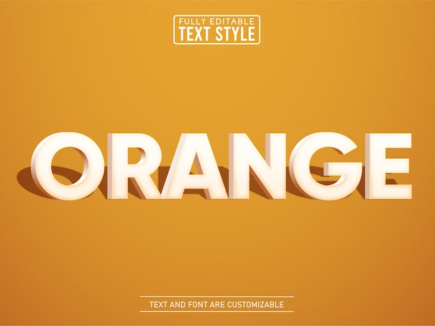 3d orange modern elegant text effect