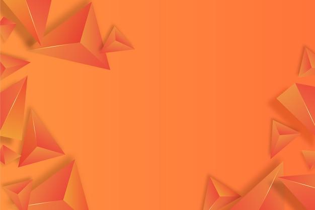 3d orange triangle background