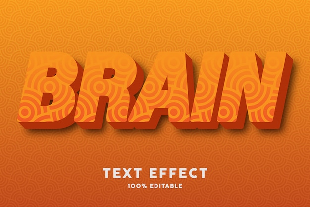3d orange with circle seamless pattern text effect