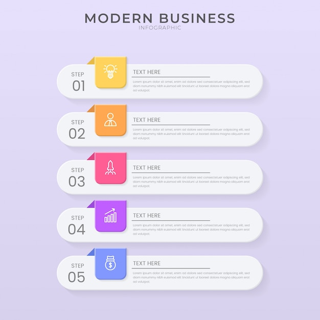 3d and paper cut style infographic design organization chart process template with editable text.