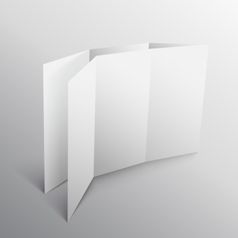 3d paper fold mockup template
