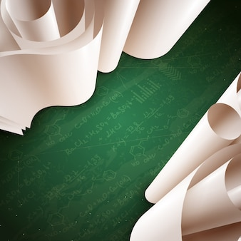 3d paper roll background
